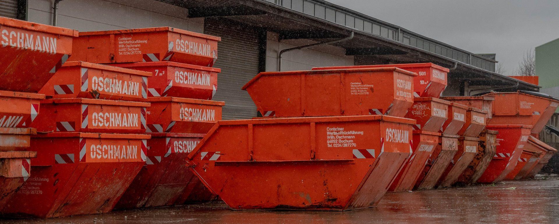 Container mieten in Bochum bei der Wilhelm Oschmann OHG